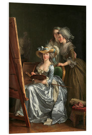 Cuadro de PVC  Adelaide Labille-Guiard with two schoolgirls - Adelaide Labille-Guiard