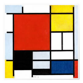 Póster  Composition with Red, Yellow, Blue and Black - Piet Mondrian