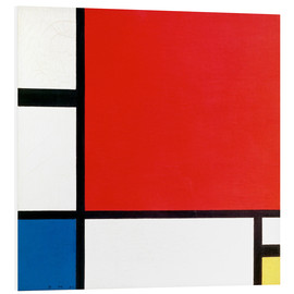 Cuadro de PVC  Composition with Red, Yellow and Blue - Piet Mondrian