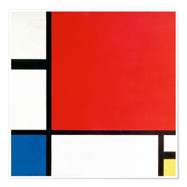 Póster  Composition with Red, Yellow and Blue - Piet Mondrian