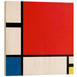 Madera  Composition with Red, Yellow and Blue - Piet Mondrian