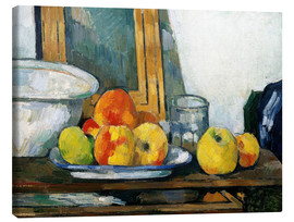 Lienzo  Still life with open drawer - Paul Cézanne