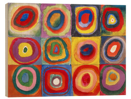 Madera  Colour Study - Squares and concentric rings - Wassily Kandinsky