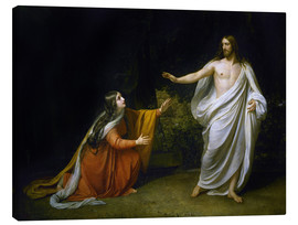 Lienzo  Christ's Appearance to Mary Magdalene after the Resurrection - Aleksandr Andreevich Ivanov
