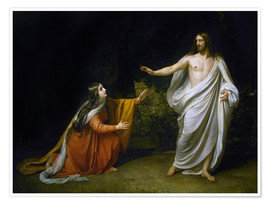 Póster  Christ's Appearance to Mary Magdalene after the Resurrection - Aleksandr Andreevich Ivanov