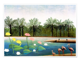 Póster  The Flamingos - Henri Rousseau