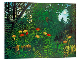 Metacrilato  Exotic landscape with tiger and hunters - Henri Rousseau
