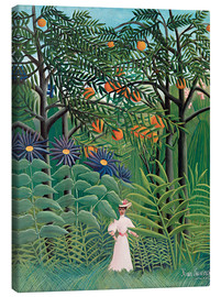 Lienzo  Woman in an exotic forest - Henri Rousseau