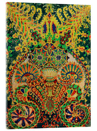 Cuadro de metacrilato  Cat animal head pattern - Louis Wain