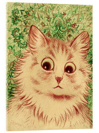Cuadro de metacrilato  Cat head paisley - Louis Wain