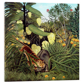Cuadro de metacrilato  Combat of Tiger and Buffalo - Henri Rousseau