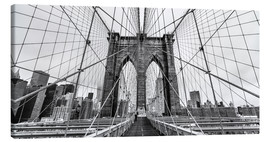 Lienzo  NYC: Brooklyn Bridge (monochrome) - Sascha Kilmer