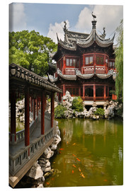 Lienzo  Shanghai, China Yu Garden and oriental styled buildings. - Darrell Gulin