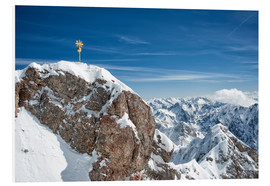 Forex  Top of Zugspitze mountain top with snow in winter - Sheila Haddad