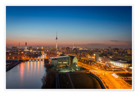 Póster Berlin Skyline Blue Hour