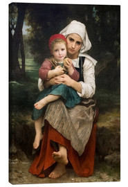 Lienzo  Breton Brother and Sister - William Adolphe Bouguereau