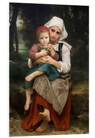 Cuadro de PVC  Breton Brother and Sister - William Adolphe Bouguereau