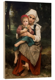 Cuadro de madera  Breton Brother and Sister - William Adolphe Bouguereau