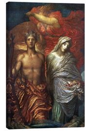 Lienzo  Time Death and Judgement - George Frederic Watts