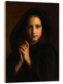 Cuadro de madera  Girl with a cape - Etienne Adolphe Piot