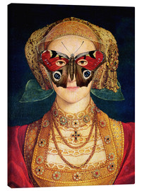 Lienzo  The butterfly mask (by Hans Holbein)