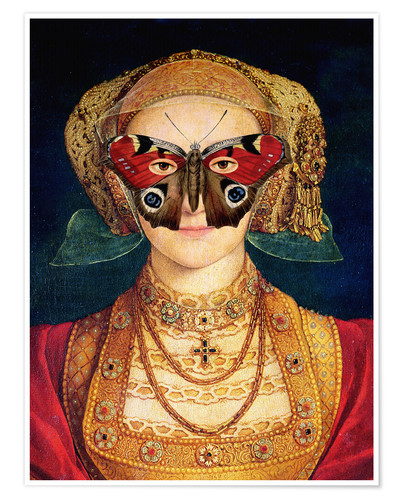 Póster The butterfly mask (by Hans Holbein)