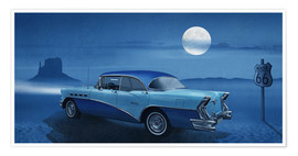Póster Blue night on Route 66