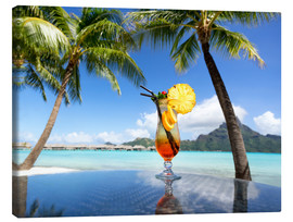 Lienzo  Cocktail on the beach in Bora Bora, French Polynesia - Jan Christopher Becke