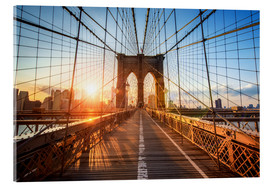 Metacrilato  Puente de Brooklyn en NY al amanecer - Jan Christopher Becke