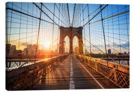 Lienzo  Puente de Brooklyn en Nueva York al amanecer - Jan Christopher Becke