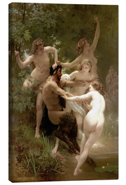 Lienzo  Ninfas y Sátiro - William Adolphe Bouguereau