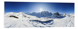 Forex  360 degree mountain panorama from Riffelberg above Zermatt with Monte Rosa and Matterhorn in Winter - Peter Wey