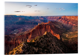Cuadro de metacrilato  Sunset scenery from Grand Canyon South Rim, Grand Canyon National Park, USA - Peter Wey