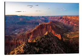 Cuadro de aluminio  Sunset scenery from Grand Canyon South Rim, Grand Canyon National Park, USA - Peter Wey