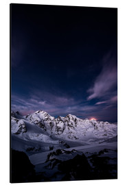 Cuadro de aluminio  Diavolezza moonset by night, Engadin, Switzerland. - Peter Wey