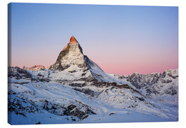 Lienzo  Matterhorn at sunrise, view from Gornergrat, Zermatt, Valais, Switzerland - Peter Wey