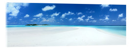 Cuadro de metacrilato  Beach Panorama, Maldives - Matteo Colombo