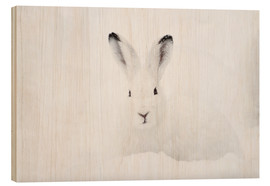 Cuadro de madera  Mountain hare in winter - Peter Wey