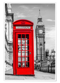 Póster  London phone booth - euregiophoto