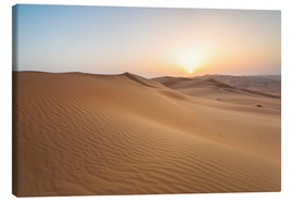 Lienzo  Sunrise over sand dunes, empty quarter desert, Abu Dhabi, Emirates - Matteo Colombo