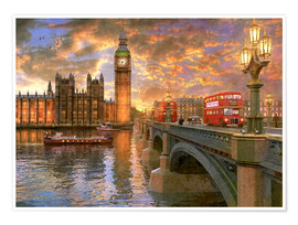 Póster  Westminster sunset - Dominic Davison