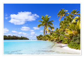 Póster Beautiful of One Foot Island, Cook Islands