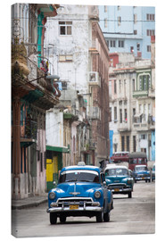Lienzo  Taxis in the Colon Avenue, Cuba - Lee Frost