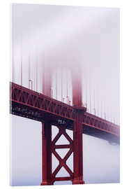 Metacrilato  Puente Golden Gate en la niebla, San Francisco - Jean Brooks