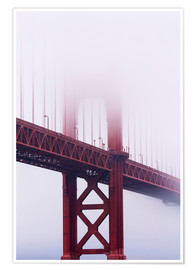 Póster  Puente Golden Gate en la niebla - Jean Brooks