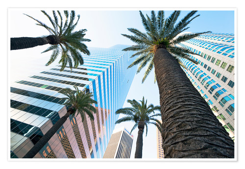 Póster Downtown, Los Angeles, California, United States of America, North America