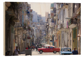 Cuadro de madera  In the streets of Havana - Lee Frost
