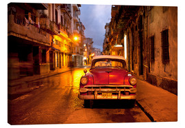 Lienzo  Red vintage American car in Havana - Lee Frost