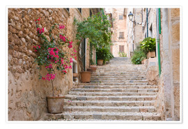 Póster  Gasse in Fornalutx, Mallorca - Ruth Tomlinson