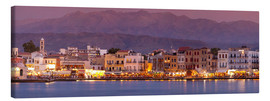 Lienzo  Harbor at dusk, Chania, Crete - John Miller
